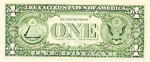 Back of dollar