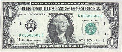 Front of dollar