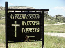 Rim Rock Bible Camp Sign